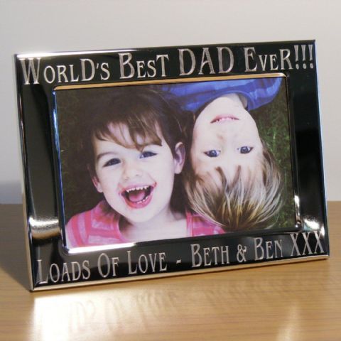 Personalised Worlds Best Daddy Dad Uncle Photo Frame Fathers Day Gift